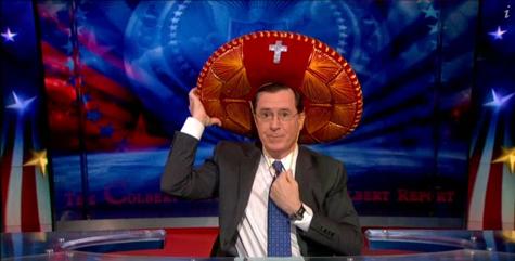 """Colbert and his """"somprayero"""""""