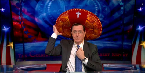 "Colbert and his ""somprayero"""