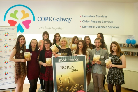 Launching ROPES at the COPE Galway charity shop