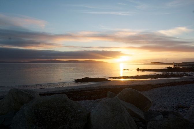 The sunset was incredible last night and we were in Salthill to watch it