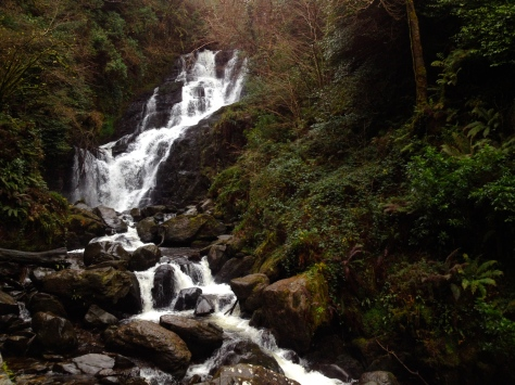 Torc waterfall in Killarney, co. Kerry