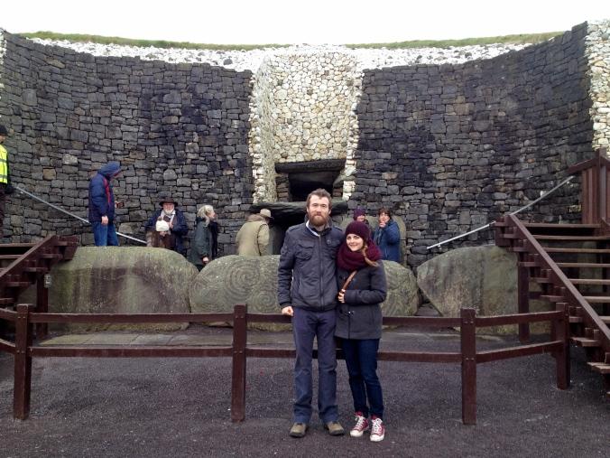 Outside Newgrange monument