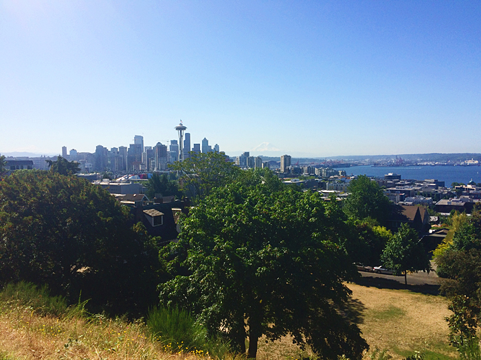 The view from Kerry Park. The hill was steep, but the view is worth it.